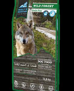 Hypoallergeen graanvrij hondenvoer met wild, lamsvlees, groente en fruit.